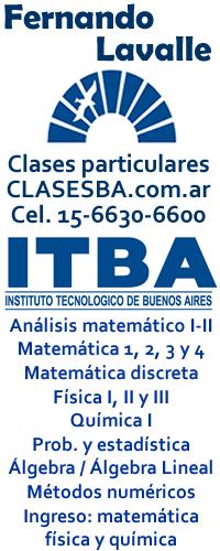 Ingreso al itba matemática, física, química, clases particulares a domicilio, profesor particular, modelos de examen
