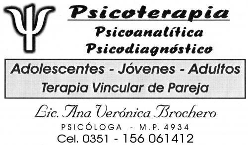 Psicóloga doc. adsc. unc. adul. adolesc. terapia de pareja orienta vocacional