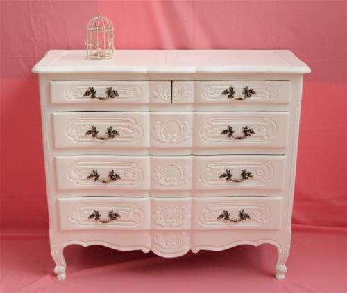 Estilo shabby chic muebles comoda antigua con espejo for Muebles de estilo romantico