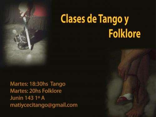 Clases de tango y folklore