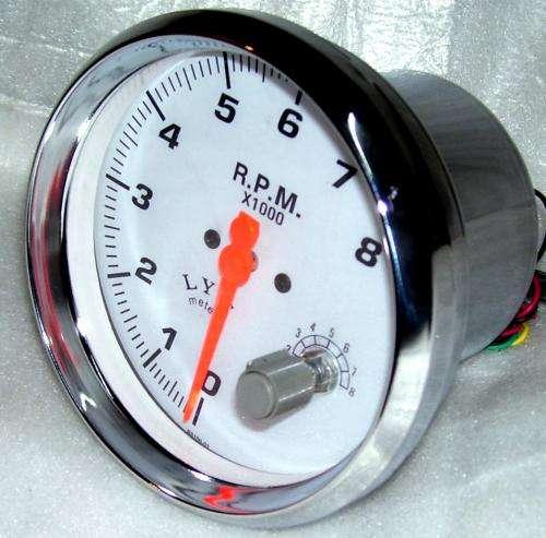 Tacometro corte rpm y shift ligh motos fondo negro blanco