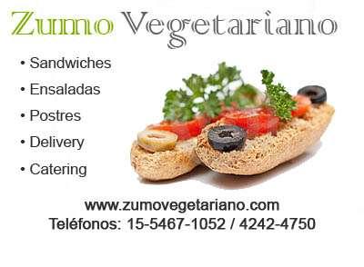 Delivery de comida vegetariana, sandwiches ensaladas y postres