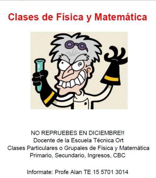 Clases particulares de física y matemática