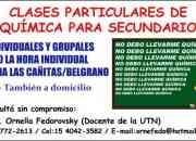 CLASES PARTICULARES DE QUÍMICA EN BELGRANO - LAS CAÑITAS, CAPITAL FEDERAL