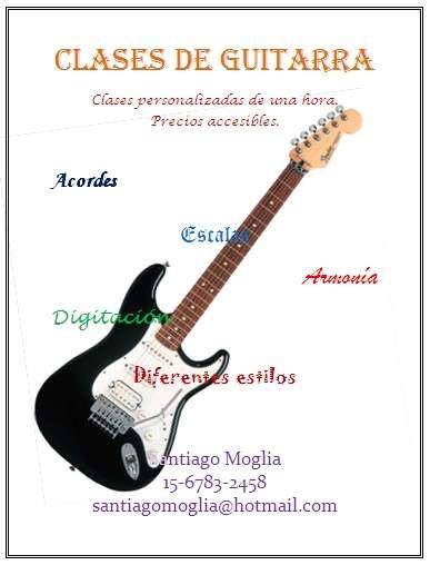 Clases de guitarra eléctrica en quilmes