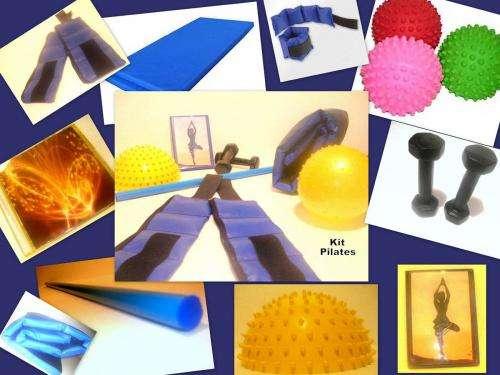 Kit para la practica de pilates en casa.