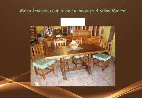 Juego de mesa y sillas algarrobo