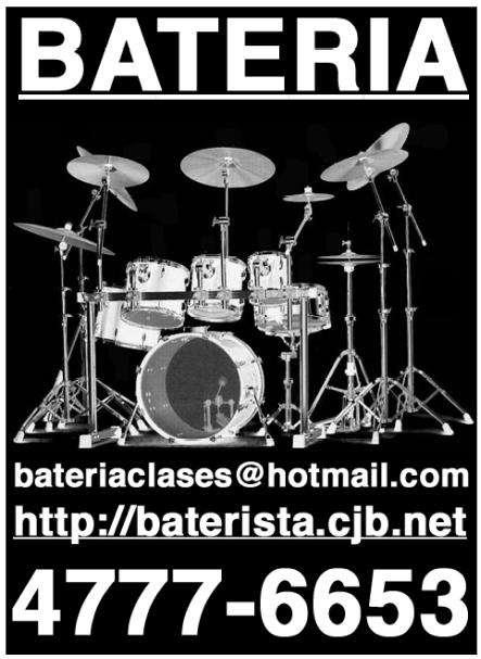 Clases de bateria ( palermo colegiales belgrano )