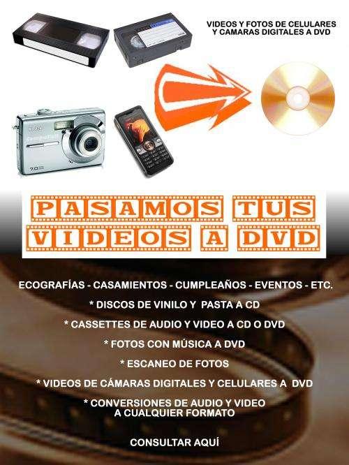 Pasamos tus videos a dvd . . .