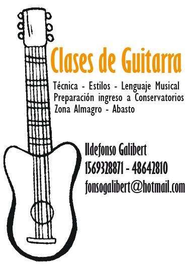 Clases de guitarra - lenguaje musical - ingreso a conservatorios.