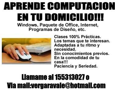 Aprende computación en tu domicilio!!!