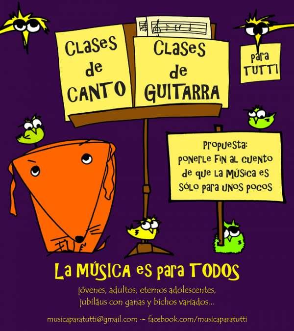 Clases canto /// clases de guitarra para tutti!