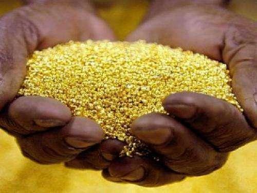 Comercio de polvo de oro en bruto y lingotes de oro