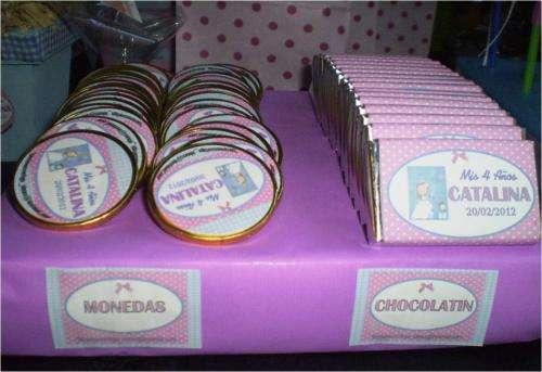 15 monedas de chocolate !! ideal para cumpleaños infantiles