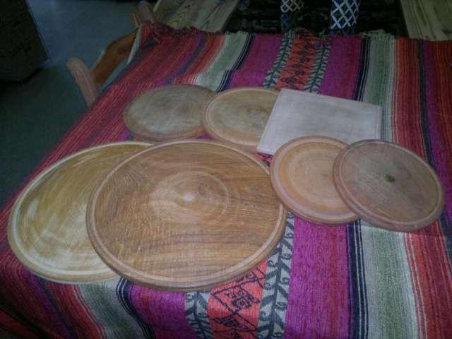 Pizzeras de madera - platos de madera