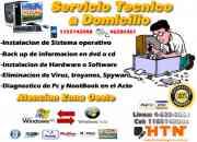 Arreglos de Pc a domicilio en menos de 12 horas - Instalacion de programas - Formateo - instalacion de xp - antivirus