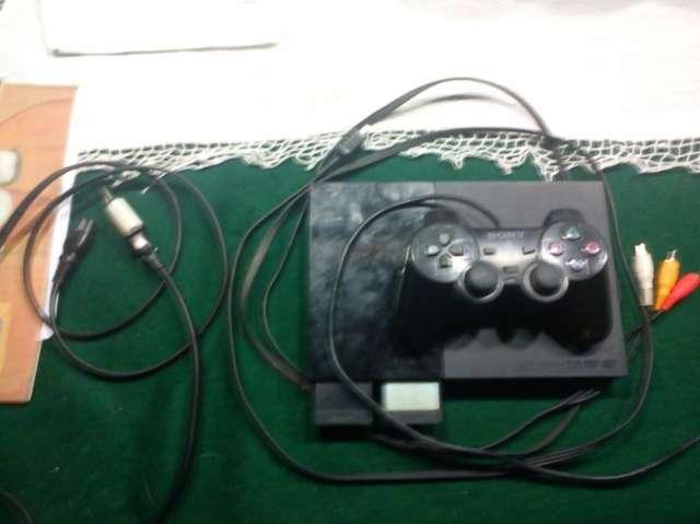 Ps2 slim chipeada + juegos + joystick