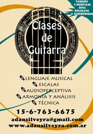 Clases de guitarra y teoría musical en belgrano-nuñez y alrededores