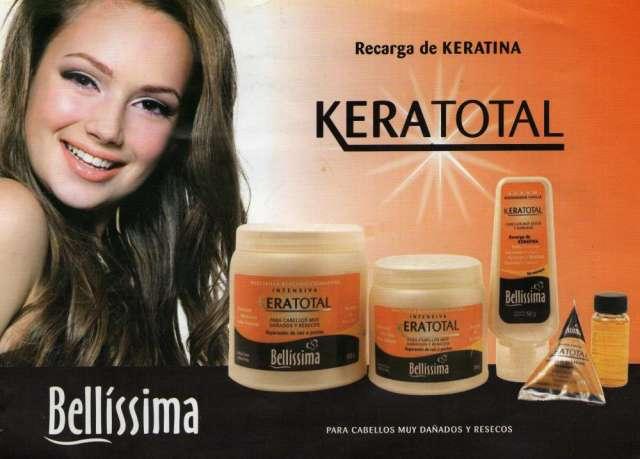 Kit para realizar shock de keratina keratotal de bellissima