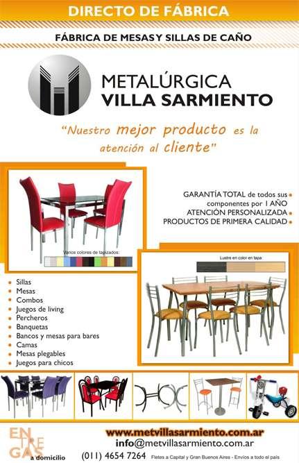Venta de mesas y sillas de caño de primera calidad