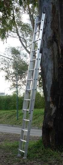 Escalera aluminio reforzado extensible 20 esc. alt 5.10 mts