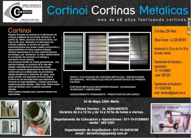 Cortinas metalicas cortinoi fabrica de cortinas