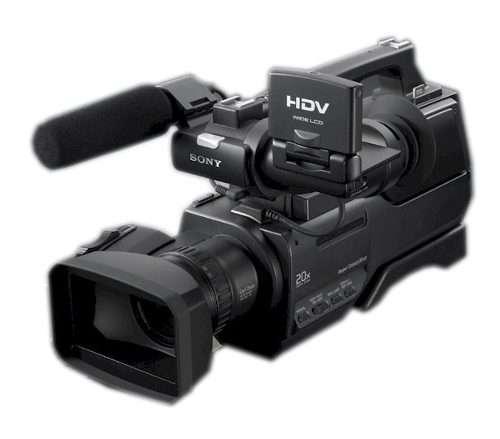 Camarógrafo profesional equipo sony hvr-1000