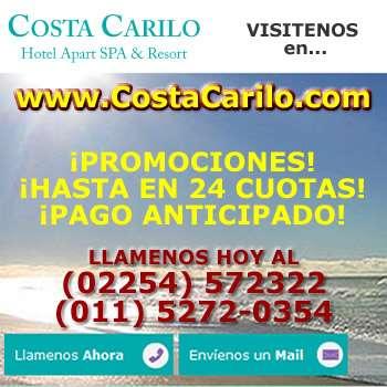 Carilo hoteles costacarilo (02254) 572322