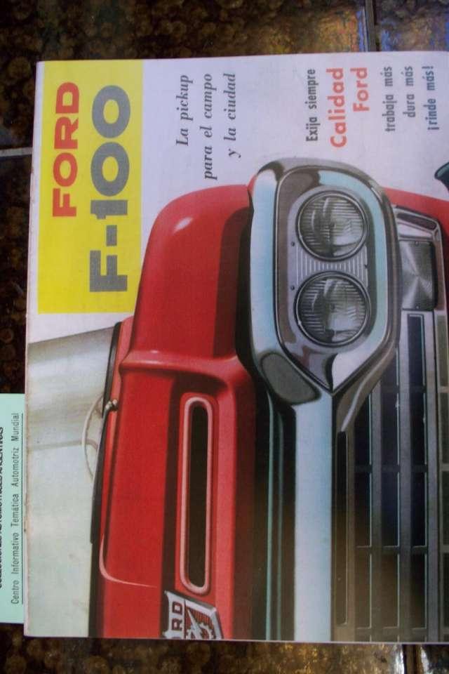 Vendo catalogo pick up ford f-100 -loba ( 1960)