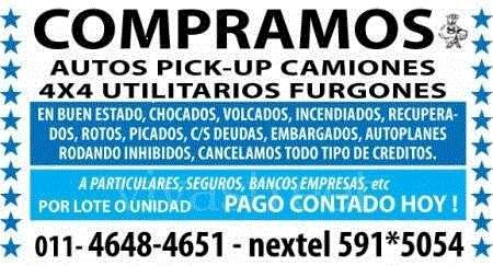 Compro autos camionetas pick-up 4x4