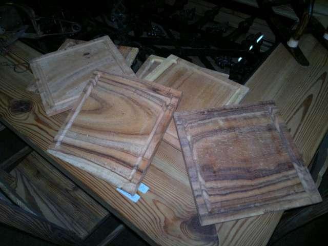 Platos de madera de quebracho colorado
