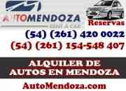 Alquiler De Autos En Mendoza Tarifas- AutoMendoza.com