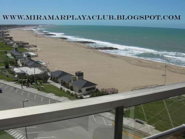 Miramar alquiler departamento frente al mar en playa club