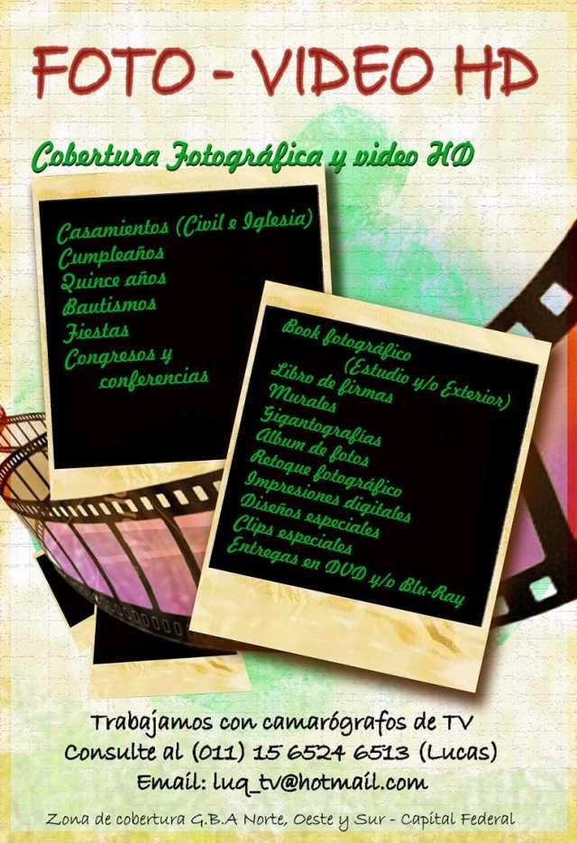 Servicio de fotografía - video en hd para fiestas y eventos especiales