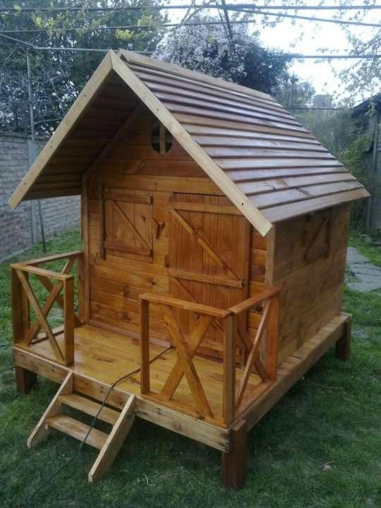 Juegos y casitas infatiles de madera para el jardin