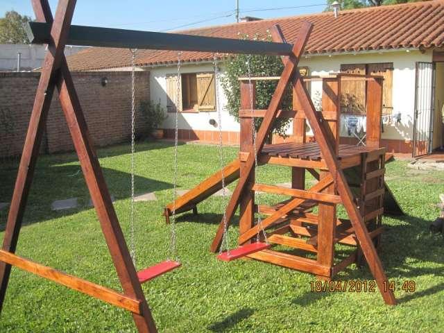 Fotos de Juegos de madera  y mangrullos para el jardin 4