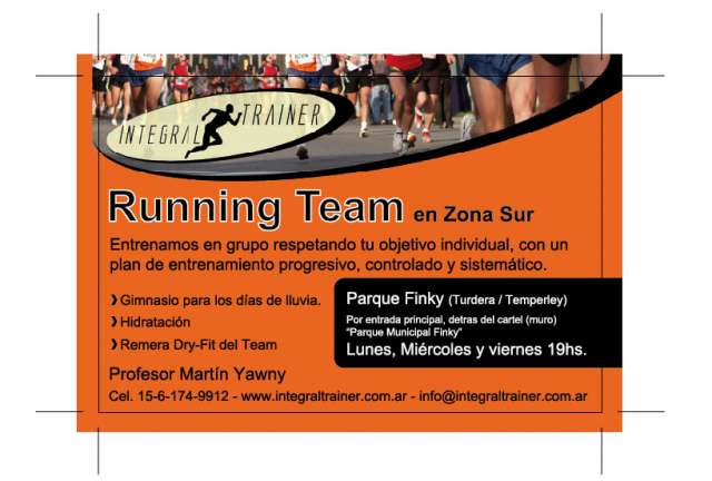 Running team-personal trainer. integraltrainer