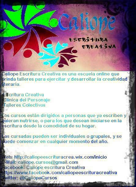 Calíope escritura creativa- cursos de escritura creativa