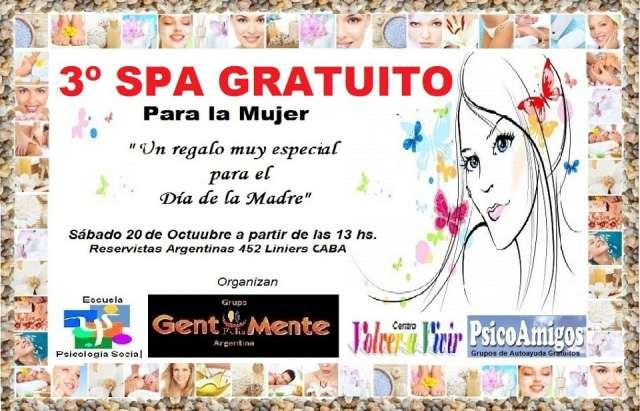 3º spa gratuito para la mujer - sáb 20/10 - 13 hs. 20 oct