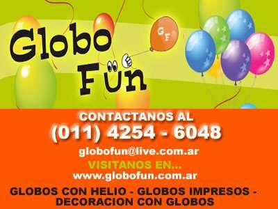 Globo de helio en quilmes - globofun - 4254-6048