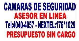 Camaras de seguridad instalacion 155.3037707 nextel 176*3870