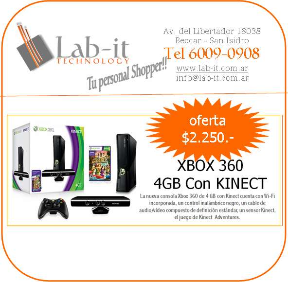 Consola sony xbox 360 slim arcade de 4gb super oferta