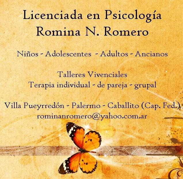 Licenciada en psicología, capital federal
