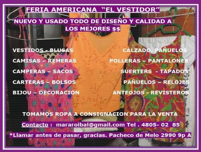 Feria americana el vestidor de recoleta