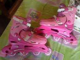 Vendo rollers hello kity, precisos, rosados, poco uso.