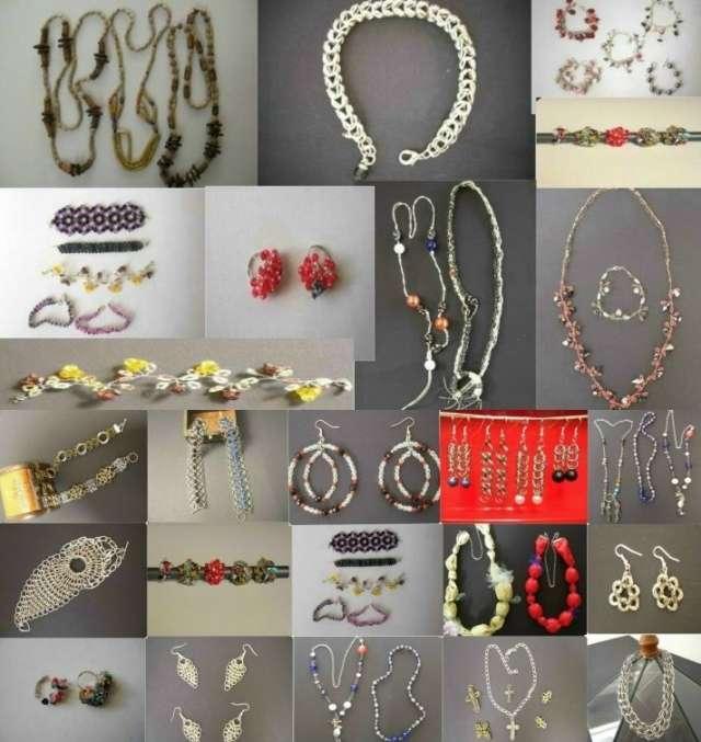 Bijou artesanal argentina variedad de modelos y tejido medieval