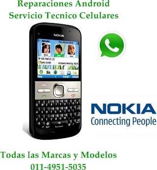 Servicio tecnico de celulares sony, samsung, nokia, blackberry, chinos, motorola