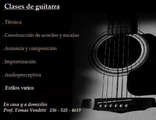 Clases de guitarra particulares / buenos aires / palermo