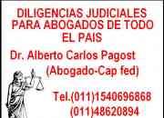 Diligencias judiciales cap fed bs as dr.pagost
