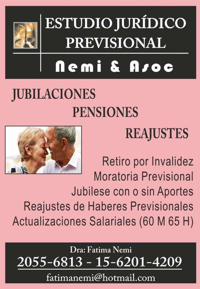 Jubilaciones - pensiones - reajustes